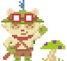 Teemo w/ Mushroom Sticker - League of Legends Fanart by Beemes