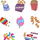 Pixel Junk Food Stickers 7 by siins