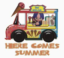 Here Come's Summer Ice Cream Truck T Kids Tee