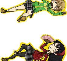 Chie and Yukiko by blackwolf8