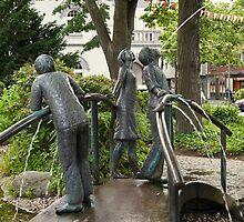 Fountain in Meerbusch-Büderich, Germany. by David A. L. Davies