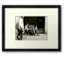 French Friends Framed Print