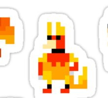 Mini Pixel Kanto Fire Types - Set of 7 Sticker