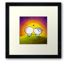 Looking at the sunset Framed Print