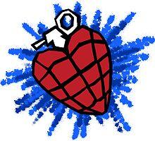 Heart Hand Grenade  by Jack Rinderknecht