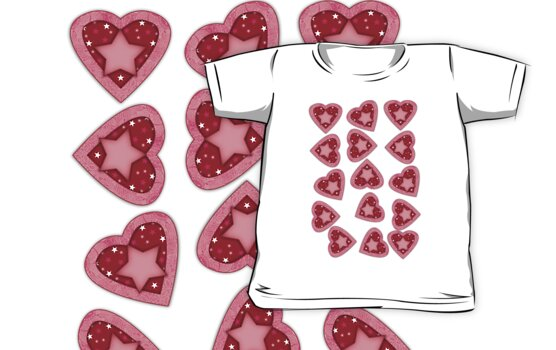 Heart T Shirt For Children by Moonlake