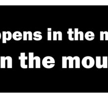 What Happens in the Mountains.... Bumper Sticker Sticker