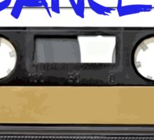 Dance Music Cassette Tape  Sticker