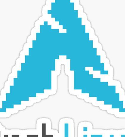Pixelated ArchLinux Sticker