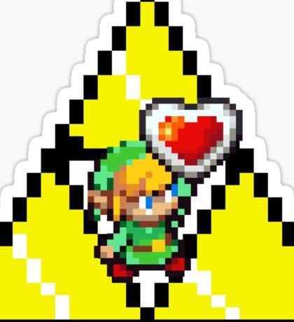 8 Bit Link, the legend of Zelda - Pixel Sticker