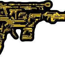 No Match for a Good Blaster - 26 Classic Sci-Fi Guns - Sticker by ianleino
