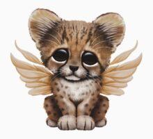 Cute Baby Cheetah Cub with Fairy Wings  Baby Tee
