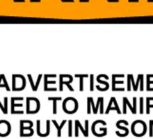 Advertisement Warning Sticker