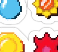 8 bit Pokemon Badges Sticker