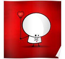 Sad boy with broken heart Poster