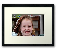 Big Smile - Big Hat  Framed Print