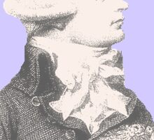 Robespierre and flowers Sticker