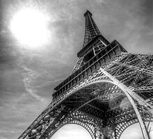 eiffel tower from below by paulcowell