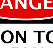 DANGER LUTON TOWN FAN, FOOTBALL FUNNY FAKE SAFETY SIGN Sticker