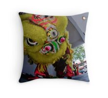 chinese lion dance Throw Pillow