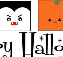 Happy Halloween Monsters Sticker