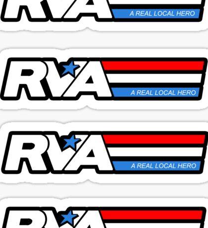 RVA - A Real Local Hero! STICKERS USA Sticker