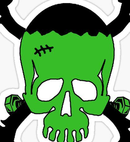 Frankenstein Skull Sticker