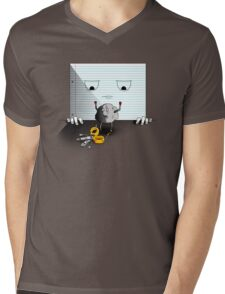 Rock, Paper, Scissors Mens V-Neck T-Shirt