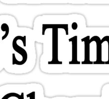 Pay Attention It's Time For Chemistry  Sticker
