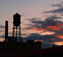 Water Tower at Sunset in Danville, VA by BCallahan