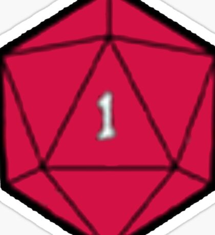 D20 Disasters Sticker