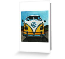 Wee Yellow Camper Greeting Card