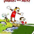 Podolski and Mertesacker as Calvin and Hobbes. by LukeSimms