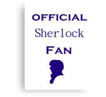 Official Sherlock fan Canvas Print