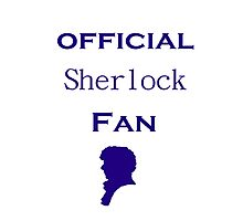 Official Sherlock fan Photographic Print