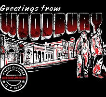 Greetings from Woodbury Sticker by Tracey Gurney