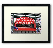 Chicago Cubs - Wrigley Field Framed Print