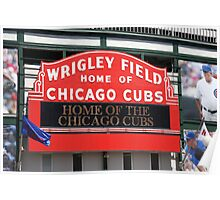 Chicago Cubs - Wrigley Field Poster