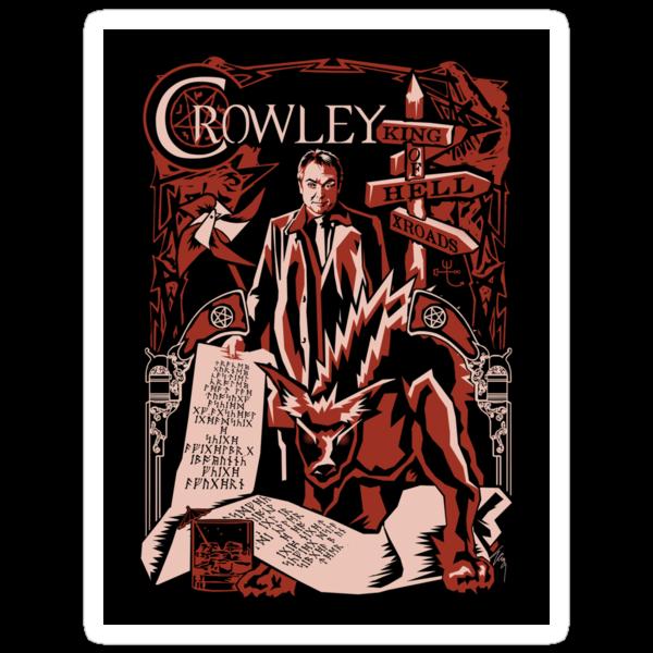 crowley sticker by Tracey Gurney