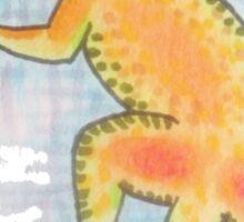 Gecko on the screen Sticker