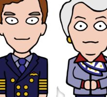 Cabin Pressure mini people (sticker) Sticker
