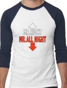 Mr. ALL NIGHT Men's Baseball ¾ T-Shirt