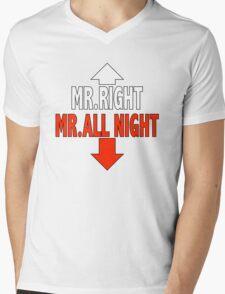 Mr. ALL NIGHT Mens V-Neck T-Shirt