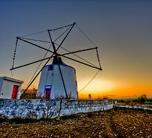 Portuguese windmill by paulcowell