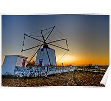 Portuguese windmill Poster