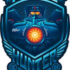 Kaiju Hunter STICKER by Bamboota