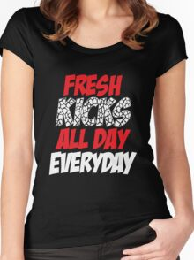 Fresh Kicks All day Everyday Women's Fitted Scoop T-Shirt