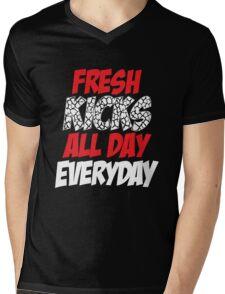 Fresh Kicks All day Everyday Mens V-Neck T-Shirt