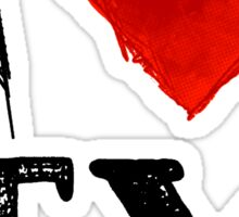 I Heart Texas (remix) by Tai's Tees Sticker