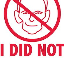 I did not Abb0tt (sticker, red text) by James Hutson